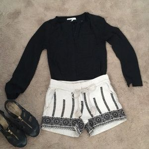 LOFT embroidered shorts
